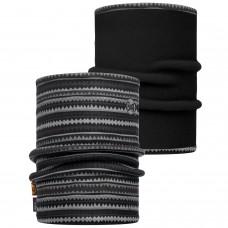 Reversible Polar Neckwarmer BUFF® Picus grey / Black (Polartec)