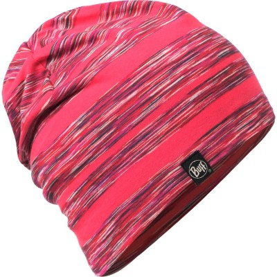 Buff Cotton Hat Wild pink stripes