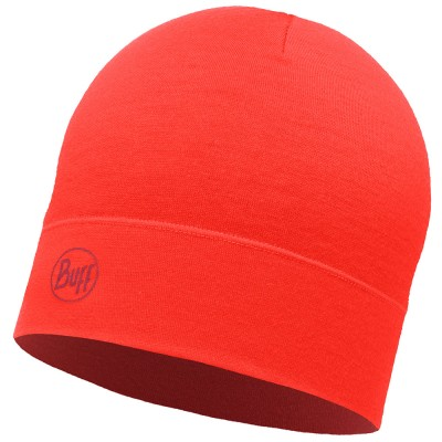 BUFF® Midweight Merino Wool Hat Solid cranberry red
