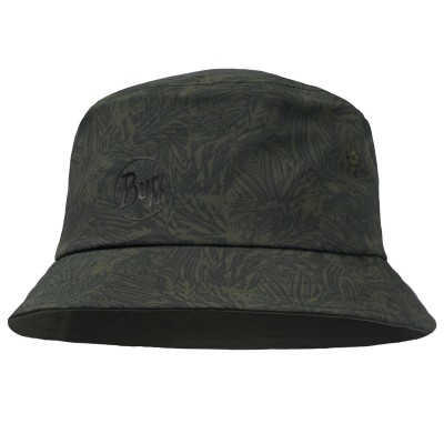 Buff Trek Bucket Hat Checkboard moss green