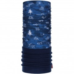 Kids Polar BUFF® funny camp navy