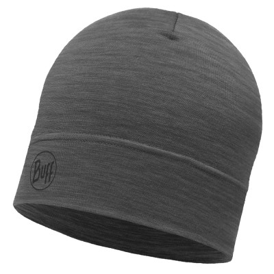 BUFF® Lightweight Merino Wool Hat solid grey