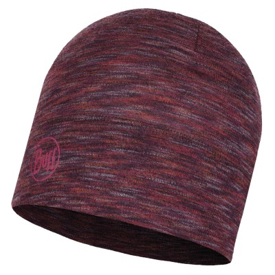 BUFF® Midweight Merino Wool Hat shale grey multi stripes