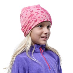 BUFF® Kids Microfiber & Polar hat butterfly pink