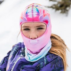 BUFF® Kids Polar Balaclava unicorn pink