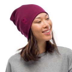 BUFF® Heavyweight Merino Wool Loose Hat solid raspberry