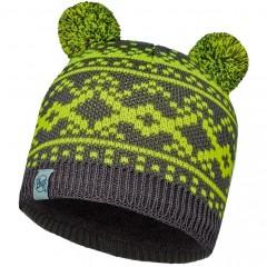 BUFF® Kids Knitted & Polar Hat NOVY grey castlerock