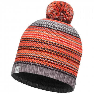 BUFF® Kids Knitted & Polar Hat AMITY grey castlerock
