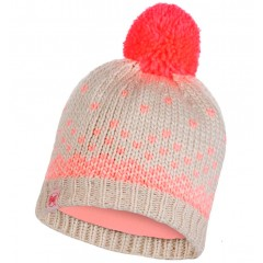 BUFF® Kids Knitted & Polar Hat HILDA melange cru