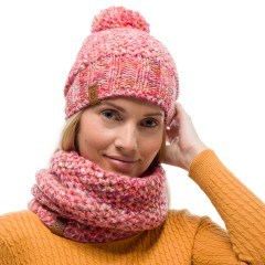 BUFF® Knitted & Polar Neckwarmer MARGO flamingo pink
