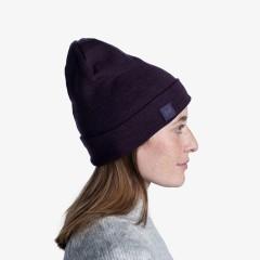 BUFF® Heavyweight Merino Wool Loose Hat solid deep purple