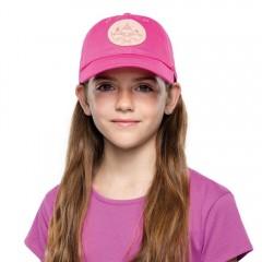 BUFF® Kids Baseball Cap solid fuchsia