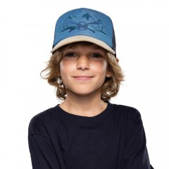 BUFF® Kids Trucker Cap brany denim