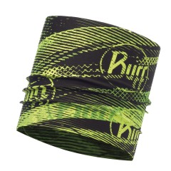 BUFF® CoolNet UV⁺ Multifunctional Headband flash logo yellow fluor