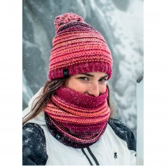 BUFF® Knitted & Polar Hat NEPER bright pink