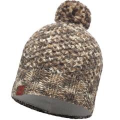 BUFF® Knitted & Polar Hat MARGO brown taupe
