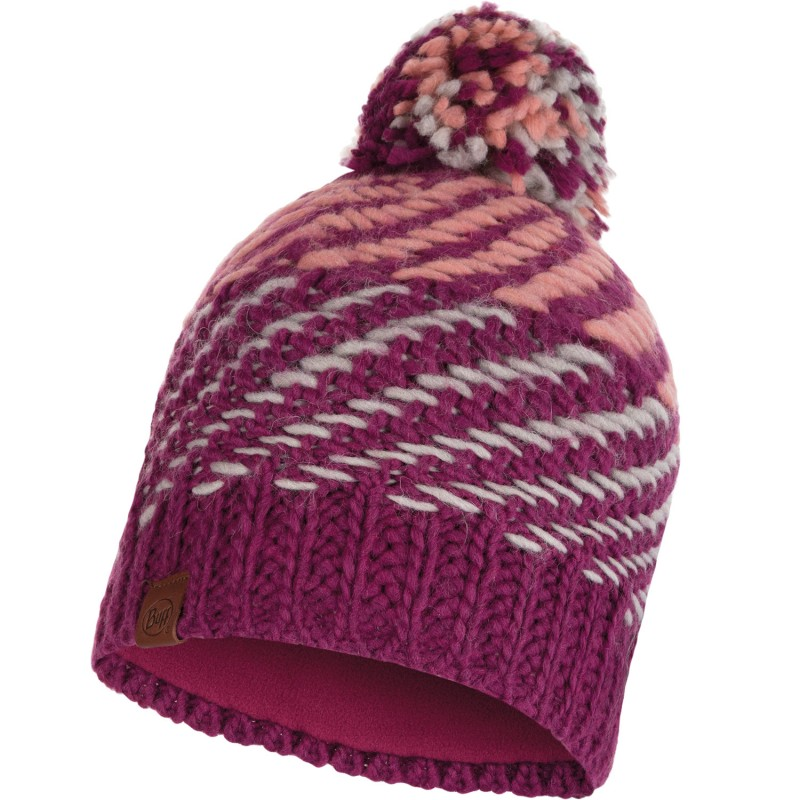 Buff Knitted Polar Hat Nella Purple Raspebrry Bu 117891620