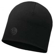 Buff Heavyweight Merino Wool Hat Solid black