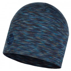 BUFF® Heavyweight Merino Wool Hat Solid Denim multi stripes