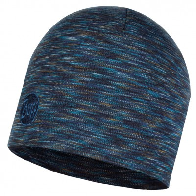 BUFF® Heavyweight Merino Wool Hat Solid Denim multi stripes