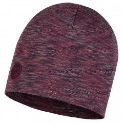 BUFF® Heavyweight Merino Wool Hat Shale grey multi stripes