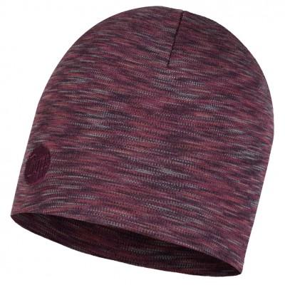 BUFF® Heavyweight Merino Wool Hat Shale grey multi stripes