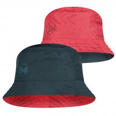 BUFF® Travel Bucket Hat Сollage red-black S/M