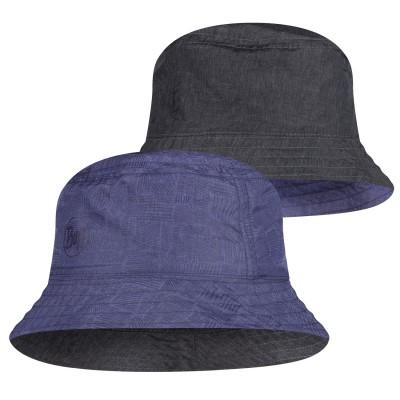 BUFF® Travel Bucket Hat eidel denim-blue M/L