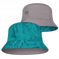 BUFF® Travel Bucket Hat açai grey-turquoise S/M