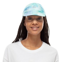 BUFF® Pack Run Cap marbled turquoise S/M