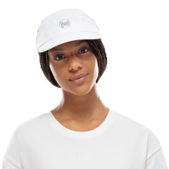 BUFF® Pro Run Cap solid white S/M