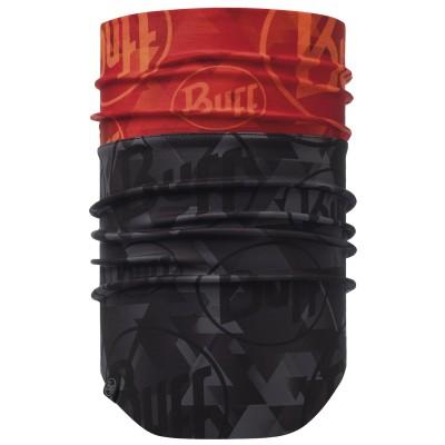 BUFF® Windproof Neckwarmer tip logo orange fluor
